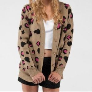 Urban Outfitters Lucca Couture Leopard Cardigan
